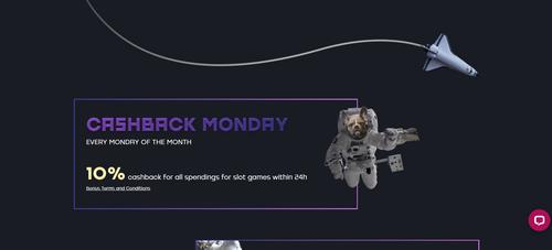 Kosmonaut Casino cashback Monday