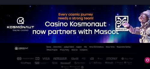 Kosmonaut Casino - every cosmic journey needs a strong team