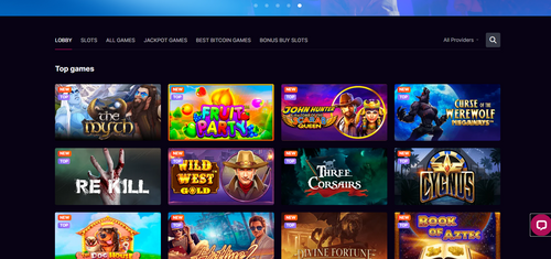 Kosmonaut Casino top games