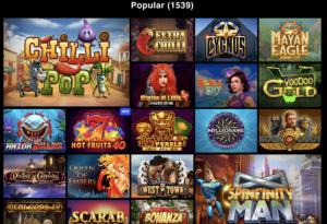 LibraBet popular games