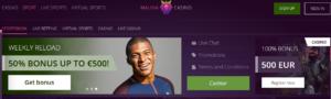 Malina casino sports
