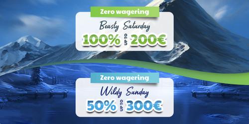 Wolfycasino weekend wagering promotion