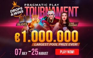 King Billy casino has launched a €1 million Drops and Wins tournament in partnership with Pragmatic Play.