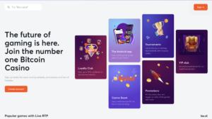 Bitcasino homepage